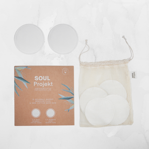 10 x Reusable Make Up Remover Pads, Organic Bamboo Cotton