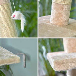 Floor to Ceiling Scratching Post Cat Tree