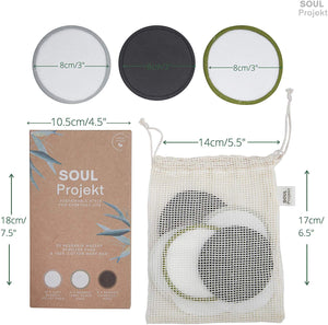20 x Reusable Make Up Remover Pads, Organic Bamboo Cotton