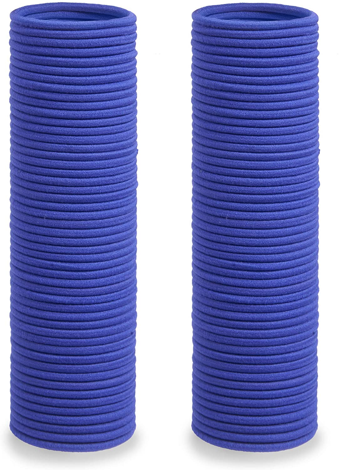 Soul Projekt Hair Bands 100 Pack 4mm/Excellent Multipurpose Ties (Blue), No Metal Tough Elastic Hair Bobbles for Numerous Hair Types/Pigtail, Plaiting, Ponytails & Buns For School, Work or Gym