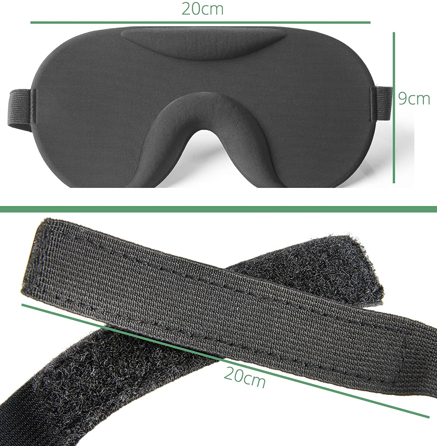 Soul Projekt Sleep Mask Lightweight & Comfortable Eye Mask for sleeping, Contoured Blackout Sleeping Blindfold Eye Mask For Sleeping, Travel, Shiftwork, Naps