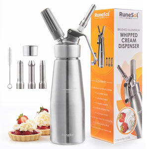 RuneSol Premium Aluminium Whipped Cream Dispenser