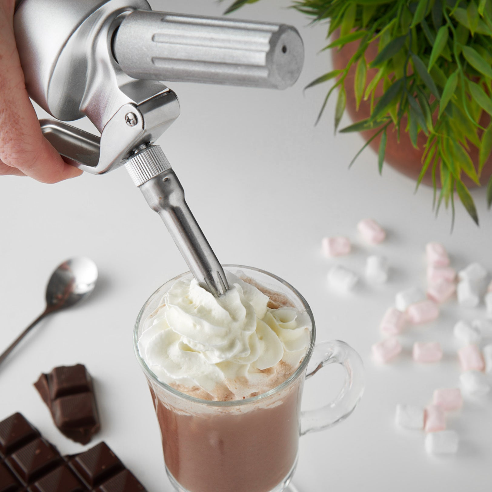 RuneSol Premium Stainless Steel Whipped Cream Dispenser