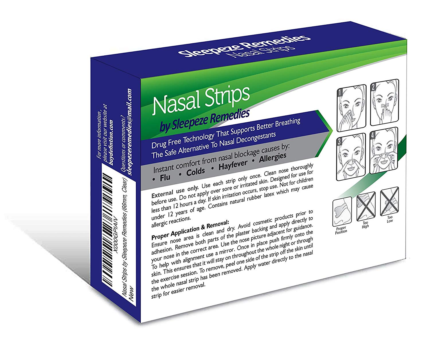 Nasal Strips Clear 60 Pack Sleepeze Remedies®