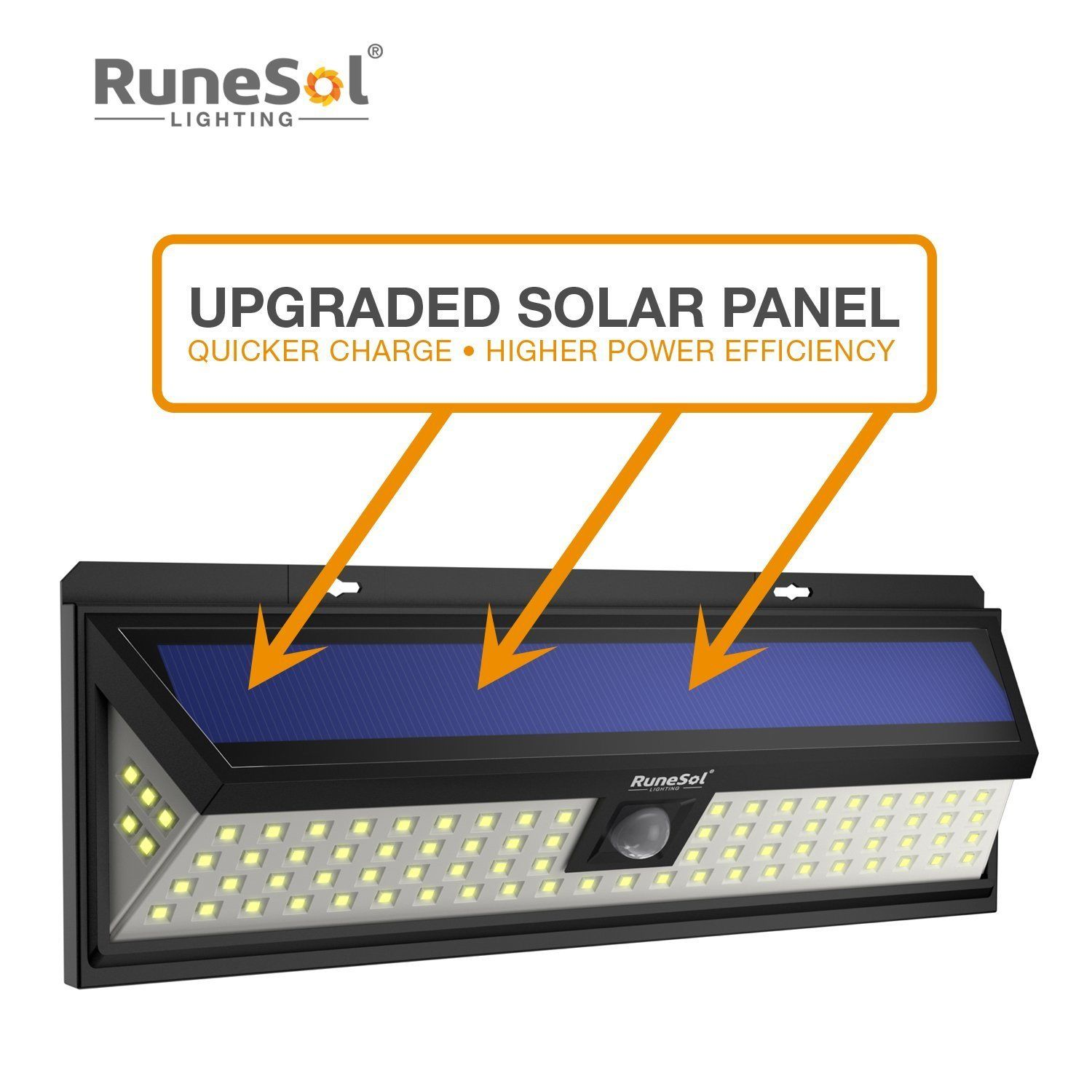 RuneSol® 86 LED Motion Sensor Solar Powered Light