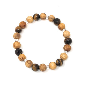 Palo Santo Bracelet: Tiger's Eye Brilliance