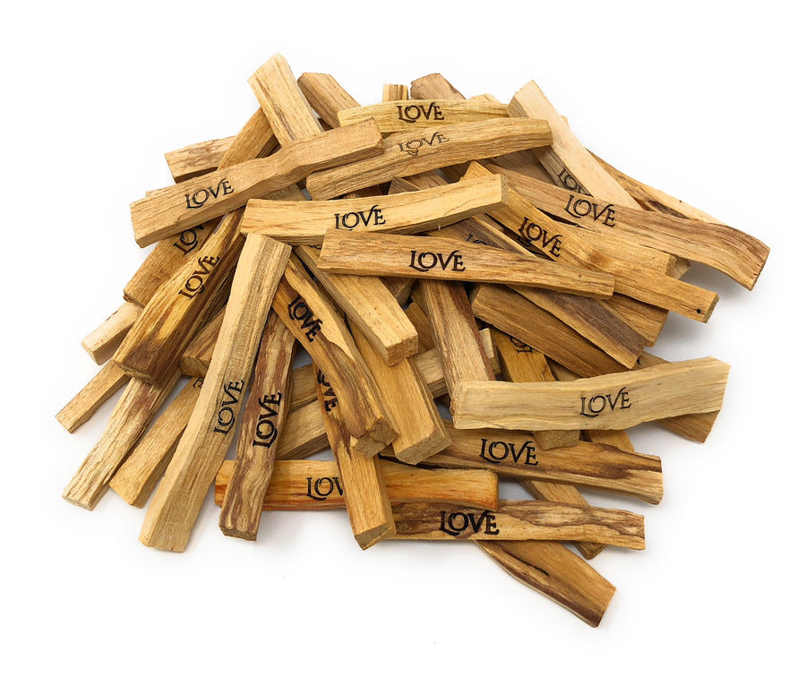 Laser Engraved Palo Santo: Love Sticks (5 Pieces)
