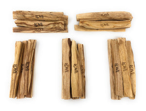 Laser Engraved Palo Santo: Love Sticks (25 Pieces)