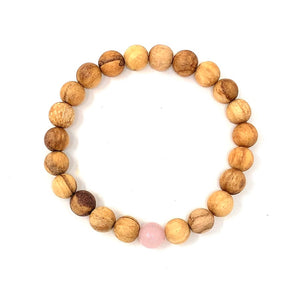 Palo Santo Bracelet: Rose Quartz The One