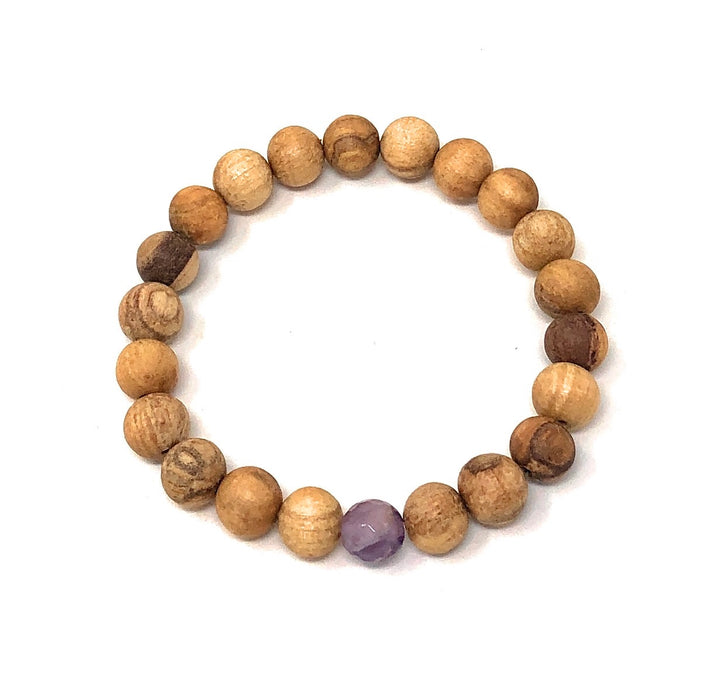 Palo Santo Bracelet: Amethyst The One