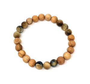 Palo Santo Bracelet: Yellow Tiger's Eye 333