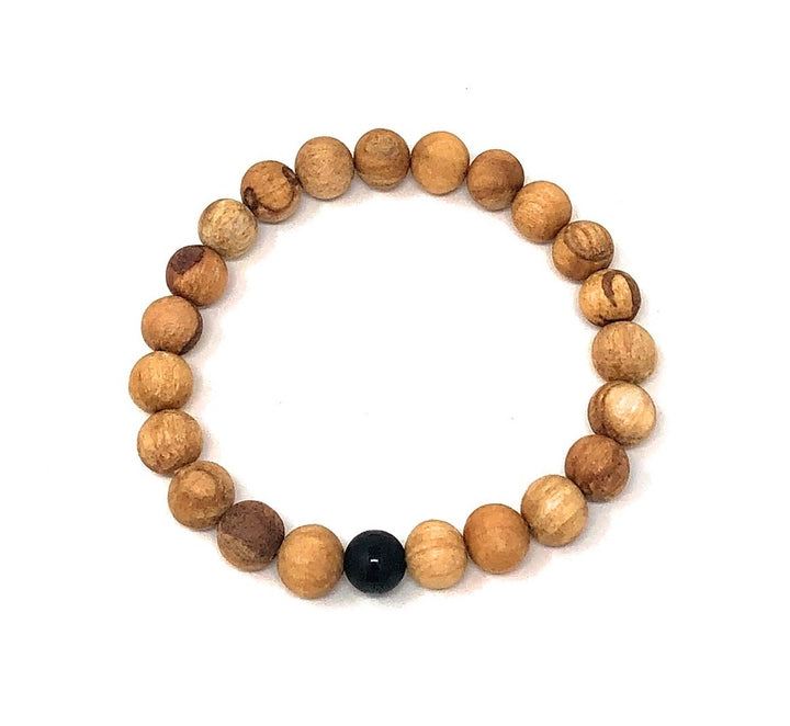 Palo Santo Bracelet: Onyx The One
