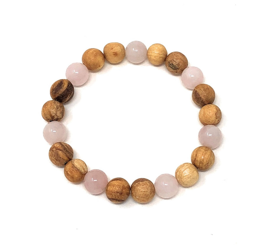 Palo Santo Bracelet: Rose Quartz Truth