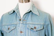 Load image into Gallery viewer, 1970s Men's Denim Jacket Cotton Roebucks M