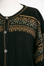 Load image into Gallery viewer, 1990s Sweater Long Wool Knit Cardigan L