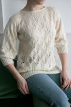 Load image into Gallery viewer, 1980s Sweater Wool Mohair Chunky Knit S