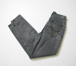 "1990s Lee Jeans Cotton Denim Black High Waist 27"" x 29"""