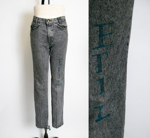 1990s Levi's JEANS Black Denim Cotton High Waist 31