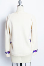Load image into Gallery viewer, 1960s Sweater Wool Knit Embroidered Cardigan S
