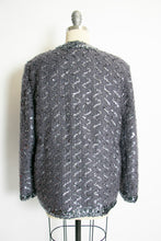 Load image into Gallery viewer, 1970s Lilli Diamond Cardigan Sequin Mohair Sweater L