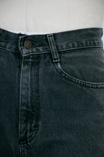 "Load image into Gallery viewer, 1990s Lee Jeans Cotton Denim Black High Waist 27"" x 29"""