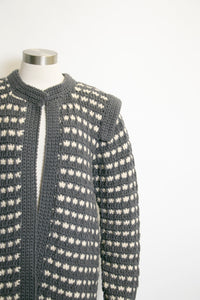 1980s Sweater Wool Hand Knit Irish