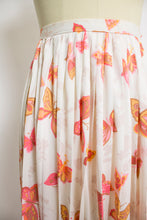 Load image into Gallery viewer, 1960s Skirt BUTTERFLY Pleated Nylon 60s XS Extra Small