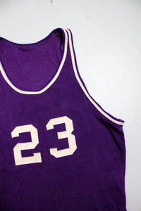 1950s Basketball Jersey Mac Gregor Knit Sports Shirt S