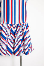 Load image into Gallery viewer, 1960s Romper Striped Cotton Playsuit Medium