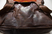 Load image into Gallery viewer, 1970s Boho Bag Brown Patchwork Leather Artisan
