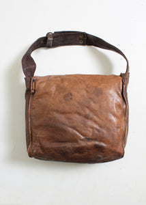 1970s Boho Bag Brown Patchwork Leather Artisan