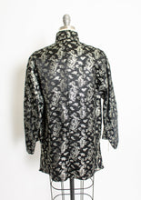 Load image into Gallery viewer, 1950s Lounge Jacket Metallic Brocade Large
