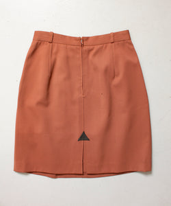 GUCCI Skirt 1980s WOOL Brown Designer Small 80s