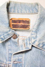 Load image into Gallery viewer, Vintage LEVI'S Denim Jacket 1970s Hand Painted Bomber 70s Small S