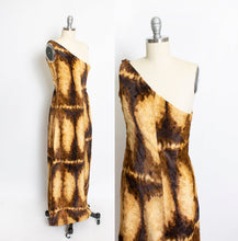 Load image into Gallery viewer, 1960s Burlesque Costume Faux Fur Long Dress XS