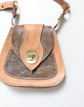 Load image into Gallery viewer, 1970s Boho Purse Brown Leather Shoulder Bag