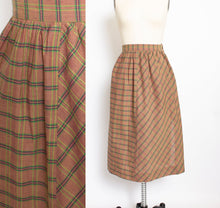 Load image into Gallery viewer, 1980s Full Skirt India Cotton Plaid NOS Unworn XS