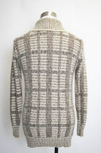 Load image into Gallery viewer, 1970s Men's Cardigan Wool Mohair Grey Fuzzy Sweater M