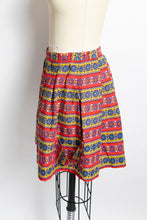 Load image into Gallery viewer, 1940s Full Skirt Mini Cotton Pockets Printed Small