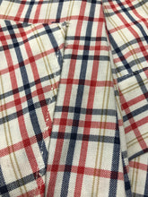 Load image into Gallery viewer, 1970s Dress Plaid Cotton Shirtfront XS