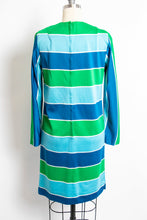 Load image into Gallery viewer, 1960s Dress Vicky Vaughn Striped Mod Shift 60s Small