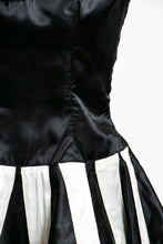 Load image into Gallery viewer, 1950s Dress Dance Costume Piano Key Satin Full Skirt S