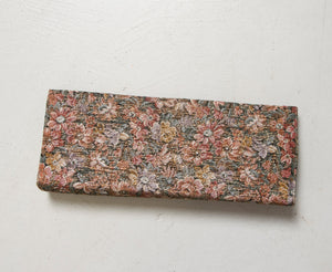1960s Purse Metallic Brocade Clutch Evening Bag Floral 60s