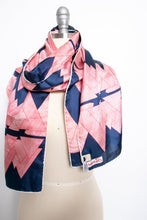 Load image into Gallery viewer, 1970s Silk Scarf Burmel DEADSTOCK Japan Blue Printed