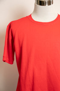1970s Sweatshirt Distressed Short Sleeve Red M / L