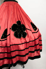 Load image into Gallery viewer, 1920s Skirt Full Circle Folk Embellished Costume 30s S