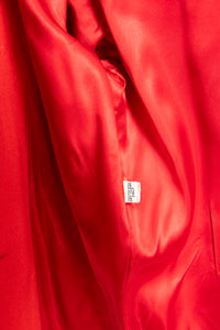 1980s Coat Red Wool Jacket Small