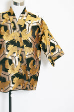 Load image into Gallery viewer, 1960s Metallic Brocade Crane Robe Jacket REVERSIBLE L