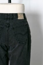 "Load image into Gallery viewer, 1990s Lee Jeans Cotton Denim Black High Waist 28"" x 32"""