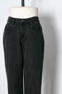 "1990s Lee Jeans Cotton Denim Black High Waist 28"" x 32"""